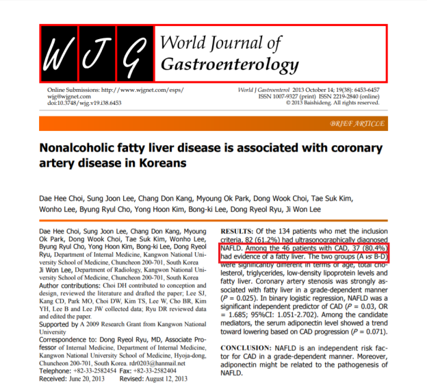 NAFLD in CAD article Choi et al