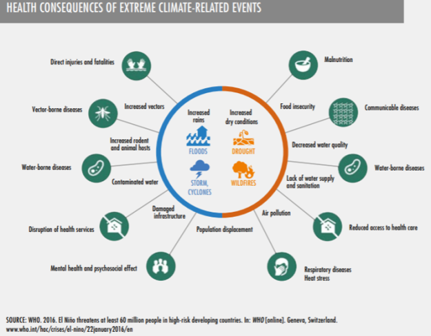 Health Consequences of extreme climate related events