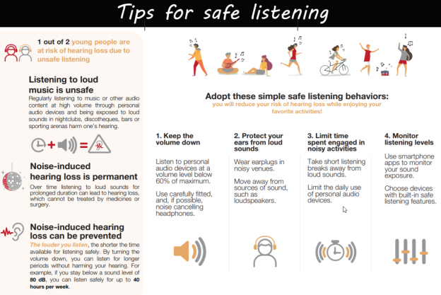 WHO Safe Listening Tips2